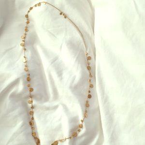 Lia Sophia gold disc necklace